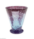 Art Glass:Schneider, A FRENCH OVERLAID AND ETCHED GLASS VASE...