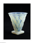 Art Glass:Other , A FRENCH OPALESCENT ART GLASS VASE...
