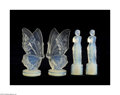 Art Glass:Other , FOUR FRENCH OPALESCENT GLASS FIGURINES... (4 Items)
