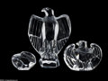 Art Glass:Other , THREE CRYSTAL EAGLES... (3 Items)