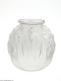 Art Glass:Muller, A FRENCH ART DECO STYLE GLASS VASE... (2 Items)