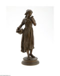 Decorative Arts, Continental:Other , A FRENCH WHITE METAL FIGURE...