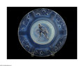 Art Glass:Other , A FRENCH MOLD-BLOWN OPALESCENT GLASS PLATE...