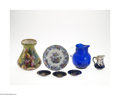 Decorative Arts, Continental:Other , AN ASSORTED LOT OF CERAMIC AND GLASS ITEMS... (7 )