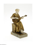 Decorative Arts, Continental:Other , A GERMAN DORE BRONZE AND IVORY SCULPTURE...