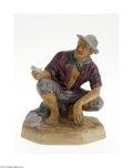 Ceramics & Porcelain, British:Contemporary   (1950 to present)  , AN ENGLISH 'BEACHCOMBER' CERAMIC FIGURINE...