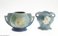 Ceramics & Porcelain, American:Modern  (1900 1949)  , TWO PIECES OF AMERICAN ART POTTERY... (2 Items)