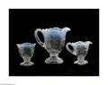 Art Glass:Other , THREE PIECES OF AMERICAN INTAGLIO PATTERN GLASS... (3 Items)