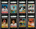Baseball Cards:Lots, 1976 & 1977 Topps Baseball Collection (179) - Includes EightSGC Graded Cards....
