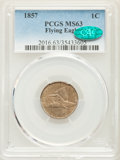 1857 1C MS63 PCGS. CAC. PCGS Population: (942/1485). NGC Census: (561/1153). MS63. Mintage 17,450,000