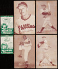 Baseball Cards:Lots, 1947-66 Exhibits Baseball Collection (21) With Four 1938 Goudey BigLeague Movies. ...