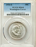 1954 50C Washington-Carver PDS Set PCGS. This lot will also include the following: 1954 MS65; 1954-D MS63; and a 1