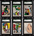 Non-Sport Cards:Lots, 1966 Donruss Marvel Super Heroes SGC Graded Collection (39)....