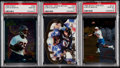 Football Cards:Lots, 1995 Finest, Pacific Crown Royale & Select Certified Curtis Martin PSA Gem Mint 10 Graded Trio (3)....