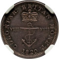 British West Indies, British West Indies: British Colony. George IV Proof 1/8 Dollar1820 PR63 NGC,...