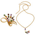 Estate Jewelry:Suites, Multi-Stone, Gold Jewelry . ... (Total: 2 Items)