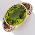 Estate Jewelry:Rings, Diamond, Peridot, Tourmaline, Gold Ring, Sabbadini. ...