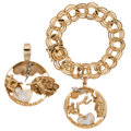 Estate Jewelry:Lots, Diamond, Freshwater Cultured Pearl, Gold Jewelry. ... (Total: 2Items)
