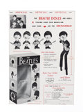 Music Memorabilia:Memorabilia, Beatles -Remco Dolls and Mascot Large Advertisement with Order Form(US, 1964), in Matted Display....