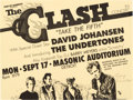 "Music Memorabilia:Posters, The Clash ""Take the Fifth"" Masonic Auditorium Concert HandbillSigned by Artist Gary Grimshaw (1979)...."
