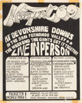 Music Memorabilia:Posters, Jimi Hendrix Newport '69 at Devonshire Downs Event Handbill (1969)....