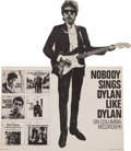 Music Memorabilia:Memorabilia, Bob Dylan Promotional Stand-Up Counter Display (Columbia Records,1965). Very Rare. ...