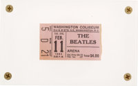 Beatles Washington Coliseum Ticket Stub (1964), Their First American Concert Appearance, in Acrylic Display