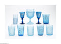 Art Glass:Other , TEN AMERICAN GLASS DRINKING VESSELS... (10 Items)