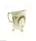 Art Glass:Other , AN AMERICAN PATTERN GLASS PITCHER AND TUMBLER... (2 Items)