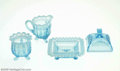 Art Glass:Other , THREE AMERICAN OPALESCENT GLASS ITEMS... (3 Items)