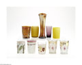 Art Glass:Other , TEN ASSORTED GLASS TUMBLERS AND A VASE... (10 Items)