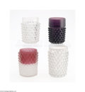 Art Glass:Other , FOUR HOBNAIL TUMBLERS... (4 Items)