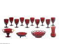 Art Glass:Other , FOURTEEN RUBY GLASS ITEMS... (14 Items)
