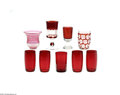 Art Glass:Other , A GROUP OF AMERICAN RUBY AND CRANBERRY GLASS... (9 Items)