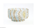 Art Glass:Other , AN ITALIAN LATTICINO GLASS BOWL...