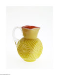 Art Glass:Other , A PRESSED GLASS CREAMER...