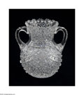 Art Glass:Other , AN AMERICAN BRILLIANT-CUT GLASS CABINET VASE...