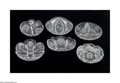 Art Glass:Other , SIX AMERICAN BRILLIANT CUT GLASS DISHES... (6 Items)