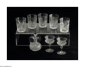 Art Glass:Webb, NINE ENGLISH ETCHED AND CUT GLASS ITEMS... (9 Items)