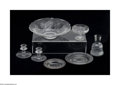 Art Glass:Other , A COLLECTION OF AMERICAN ETCHED GLASS ITEMS... (7 Items)