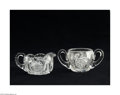 Art Glass:Other , AN AMERICAN BRILLIANT CUT GLASS CREAMER AND SUGAR... (2 Items)