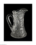 Art Glass:Other , AN AMERICAN BRILLIANT CUT GLASS PITCHER...