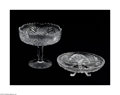 Art Glass:Other , AN AMERICAN BRILLIANT CUT GLASS COMPOTE AND FOOTED DISH... (2Items)