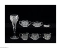 Art Glass:Other , SEVEN AMERICAN BRILLIANT CUT GLASS ITEMS... (7 Items)