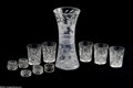 Art Glass:Other , ELEVEN AMERICAN GLASS TABLE ITEMS... (11 Items)