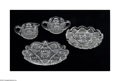 Art Glass:Other , FOUR AMERICAN BRILLIANT CUT GLASS SERVING PIECES... (4 Items)