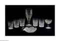 Art Glass:Other , EIGHT AMERICAN BRILLIANT-CUT GLASS ITEMS... (8 Items)