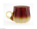 Art Glass:Other , AN AMERICAN PLATED AMBERINA PUNCH CUP...