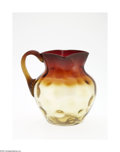 Art Glass:Other , AN AMERICAN ART GLASS PITCHER...