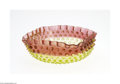 Art Glass:Other , AN AMERICAN HOBNAIL PATTERN AMBERINA GLASS BOWL...